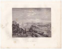 1851 - Gravure Sur Acier - Nantes (Loire-Atlantique) - Vue Générale - FRANCO DE PORT - Estampes & Gravures