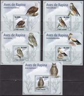 Sao Tome And Principe, Fauna, Birds Of Prey LUX S/S. MNH / 2009 - Aigles & Rapaces Diurnes