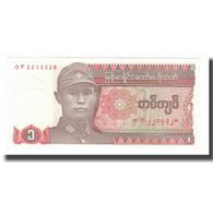 Billet, Myanmar, 1 Kyat, Undated (1990), KM:67, NEUF - Myanmar
