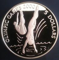 """KIRIBATI 5 DOLLARS 1996 SILVER PROOF """"OLYMPIC GAMES 2000"""" Free Shipping Via Registered Air Mail - Kiribati"""