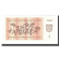 Billet, Lithuania, 1 (Talonas), 1992, KM:39, NEUF - Lituanie