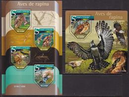 Sao Tome And Principe, Fauna, Birds Of Prey MNH / 2015 - Arends & Roofvogels