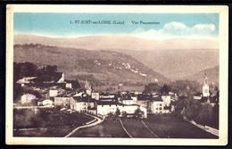CP10- CPA ANCIENNE- FRANCE- SAINT-JUST (42)- VUE PANORAMIQUE DU VILLAGE- ROUTE D'ARRIVÉE- CLOCHER- - Saint Just Saint Rambert
