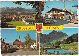 Kössen : OPEL KADETT B CARaVAN 'SERVICE-WAGEN', SIMCA 1000 II - Schwimmbad/Swimming-pool - (Tirol, Austria) - Passenger Cars