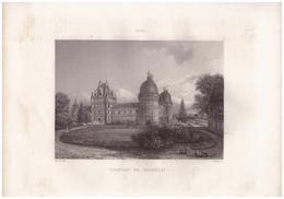 1851 - Gravure Sur Acier - Valençay (Indre) - Le Château - FRANCO DE PORT - Estampes & Gravures