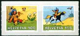 SVIZZERA / HELVETIA 2012** - Il Piccolo Indiano Yakari - 2 Val. Autoadesivi MNH, Come Da Scansione. - Fumetti