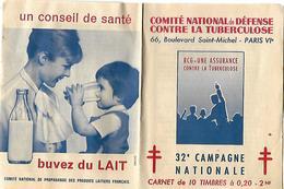 Carnet 10 Timbres à 0.20 Comité Défense Contre La Tuberculose 1962-63 - Vignetten (Erinnophilie)