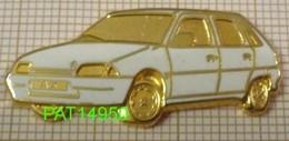 CITROEN  AX BLANCHE En Version ZAMAC DECAT Bord Doré - Citroën