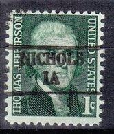 USA Precancel Vorausentwertung Preo, Locals Iowa, Nichols 882 - Vereinigte Staaten