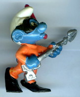 Figurine Vintage SCHTROUMPF Plongeur © 1979 PEYO SCHLEICH WA BERRIE CO - Schtroumpfs