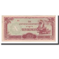 Billet, Birmanie, 10 Rupees, Undated (1942-44), KM:16a, NEUF - Myanmar