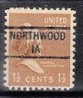 USA Precancel Vorausentwertung Preo, Locals Iowa, Northwood 841 - Vereinigte Staaten