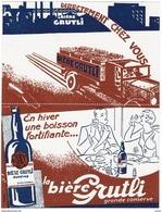 Carte Publicité -  LES MOULINEAUX  - LA BIERE GRUTLI - - Publicidad