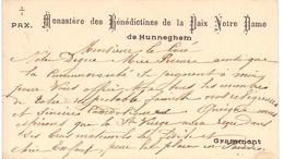 Visitekaartje - Carte Visite - Monastère Bénédictines De Hunneghem - Grammont Geraardsbergen - Cartes De Visite