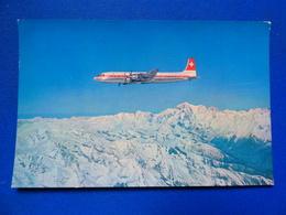 SWISSAIR  DC 7C  AIRLINE ISSUE / CARTE COMPAGNIE - 1946-....: Era Moderna