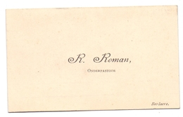 Visitekaartje - Carte Visite - Onderpastoor R. Roman - Berlare - Tarjetas De Visita