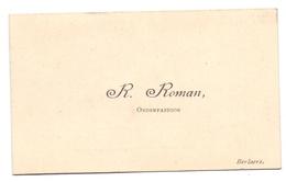 Visitekaartje - Carte Visite - Onderpastoor R. Roman - Berlare - Visiting Cards