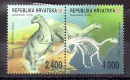 Serie De Croacia N ºYvert 224/25 ** DINOSAURIOS (DINOSAURS) - Croacia