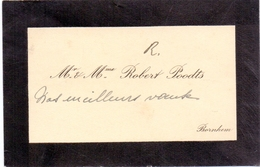 Visitekaartje - Carte Visite - Mr & Mme Robert Poodts - Bornem - Visitenkarten