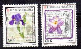 Serie De Croacia N ºYvert 230/31 ** FLORES /FLOWERS) - Croacia