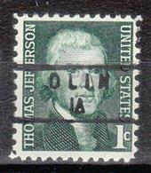 USA Precancel Vorausentwertung Preo, Locals Iowa, Olin 840 - Vereinigte Staaten