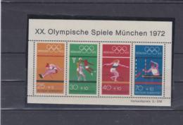Germany 1972 Olympic Games München Souvenir Sheet   MNH/** (H54) - Ete 1972: Munich