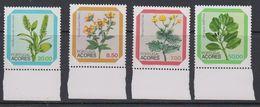 Azores 1981 Flowers 4v  (+margin) ** Mnh (43219F) - Azoren