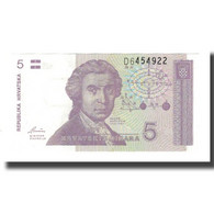 Billet, Croatie, 5 Dinara, 1991, 1991-10-08, KM:17a, NEUF - Croatie