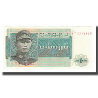 Billet, Birmanie, 1 Kyat, Undated (1972), KM:56, NEUF - Myanmar
