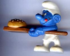 Figurine Vintage Rare SCHTROUMPF Cuisinier MAC DO © 1996 PEYO N°1 - Smurfen
