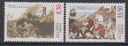 Azores 1981 Battle Of Salga 2v ** Mnh (43219K) - Azoren