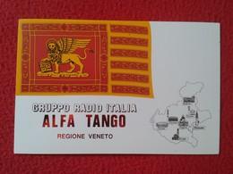 POSTAL POST CARD QSL RADIOAFICIONADOS RADIO AMATEUR GRUPPO ALFA TANGO ITALIA REGIONE VENETO REGION VENEZIA VERONA PADOVA - Cartes QSL