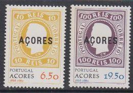 Azores 1980 Stamp Anniversary 2v ** Mnh (43229N) - Azoren