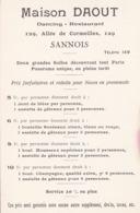 95 / SANNOIS / MAISON DAOUT DANCING RESTAURANT  / 129 ALLEE DES CORMEILLES - Sannois