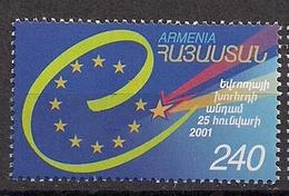 2001 Armenien  Mi. 433 **MNH Aufnahme Armeniens In Den Europarat. - Europese Gedachte
