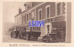 """CPSM 9X14 De TOURS (37) - ENTREPOTS """" SUZE """" - VOITURES - Tours"""