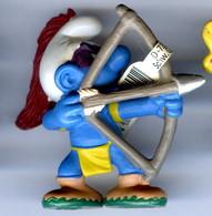 Figurine Vintage SCHTROUMPF Indien Arc © 2006 PEYO SCHLEICH GERMANY CE - Schtroumpfs
