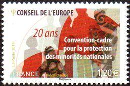 France - Timbre De Service N° 172 ** Conseil De L'Europe - Convention-cadre Pour La Protection Des Minorités Nationales - Nuevos