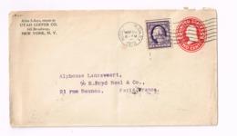 Entier Postal à 2 Cents.Expédié De Hudson (NY) à Paris. - 1901-20