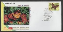 INDIA  2012  Butterflies Of Delhi  New Delhi Special Cover #  19113   Indien Inde - Butterflies