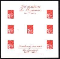 FRANCE - Blocs Des Couleurs De La Marianne En Francs Et En Euros - Epreuves Sur Carton - 4 Scans - Varietà: 2000-09 Nuovi