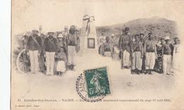 ALGERIE CP 1908 AIN BEN KHELIL FACTEUR BOITIER T 84 SUR 5C SEMEUSE INDICE 9 COTE 60 EUROS - Marcophilie (Lettres)