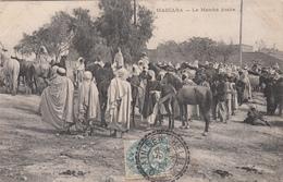 ALGERIE CP 1908 AIN BEN KHELIL FACTEUR BOITIER T 84 SUR 5C BLANC INDICE 9 COTE 60 EUROS - Postmark Collection (Covers)