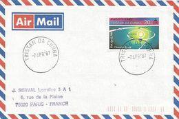 Tristan Da Cunha 1987 Space Halley's Comet Cover - Tristan Da Cunha