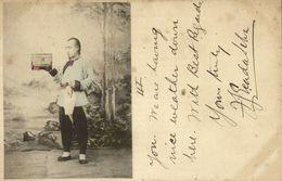 China, HONG KONG, Chinese Man With Birdcage (1899) Postcard - China (Hong Kong)