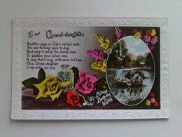"""Birthday  Postcard -  """" To My Granddaughter """" - Birthday"""