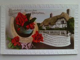 "Birthday  Postcard -  "" Birthday Wishes To My Dear Daughter "" - Birthday"