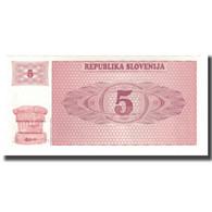 Billet, Slovénie, 5 (Tolarjev), 1990, UNdated (1990), KM:3a, NEUF - Eslovenia