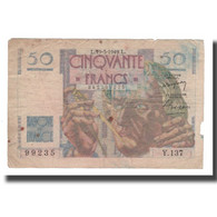 France, 50 Francs, 1949, 1949-05-19, B, Fayette:20.12, KM:127b - 1871-1952 Circulated During XXth