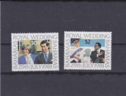 Bahamas 1981 Royal Wedding Prince Charles And Lady Di 2 Stamps MNH/** (H54) - Koniklijke Families